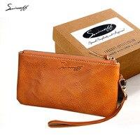 SMIRNOFF Luxus Marke Frauen Iphone 6 Fall Brieftasche Damen Nehmen Pflanzlich Gegerbtem Leder Dünne Brieftasche Weibliche Telefon Geldbörse Frauen