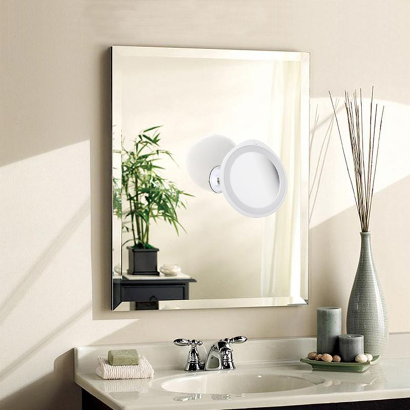 7X/10X Magnifying Makeup Mirror With LED Light 360 Degree Swivel Vanity Mirrors Home Bathroom Novelty Lamp
