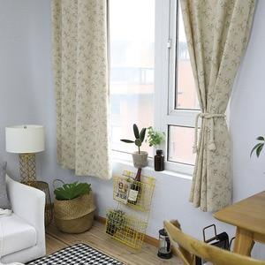 Image 4 - Modern Kırsal Küçük Çiçek Baskılı karartma perdesi Için Oturma Odası Yatak Odası Pencere Tedavi Perdeler Katı Ev Dekorasyon