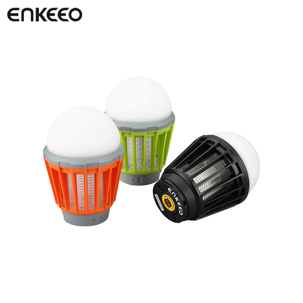 Enkeeo Mosquito Killer Lamp Bug Zapper Tent Light With Circuit Attractant 2000mah Rechargeable Camping Lantern