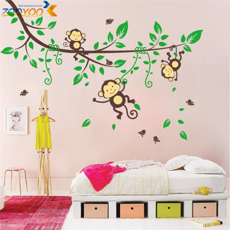 Large Size Animal Wall Stickers For Kids Room Decorations