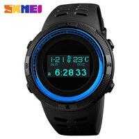 New Fashion Women Men Watch Luxury LED Display Digital Watch 50M Waterproof Sport Bracelet Compass Thermometer Electronic Watch