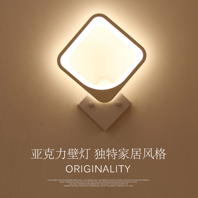 TUDA 36X38cm Free Shipping Creative LED Wall Lamp Modern Minimalist Style Wall Lamp High Grade Acrylic Wall Lamp For Living Room lovely smile acrylic wall lamp for