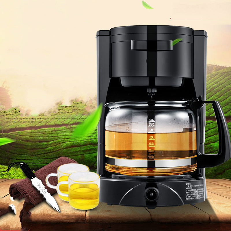 Fully automatic tea - making black steam electric kettle glass machine Safety Auto-Off Function fully automatic tea making black steam electric kettle glass machine safety auto off function