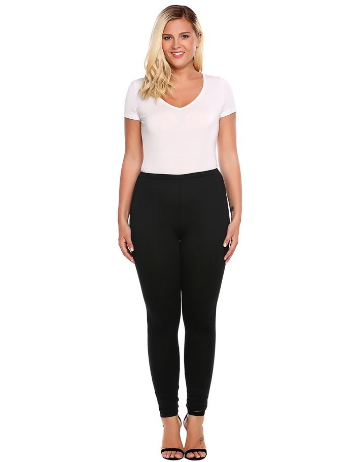 Plus Sized Women's Leggings - Blue, Brown, Black - L, XL, XXL, XXXL, 4XL - image HTB1X5ZRSpXXXXcPXXXXq6xXFXXXF on https://awesomeleggingstore.com