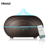 500ml Aroma Essential Oil Diffuser Ultrasonic Air Humidifier With Wood Grain 7Color Changing LED Light Electric