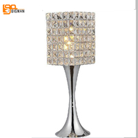 new item hot sales contemporary crystal table lamps, beautiful bedroom lighting designs