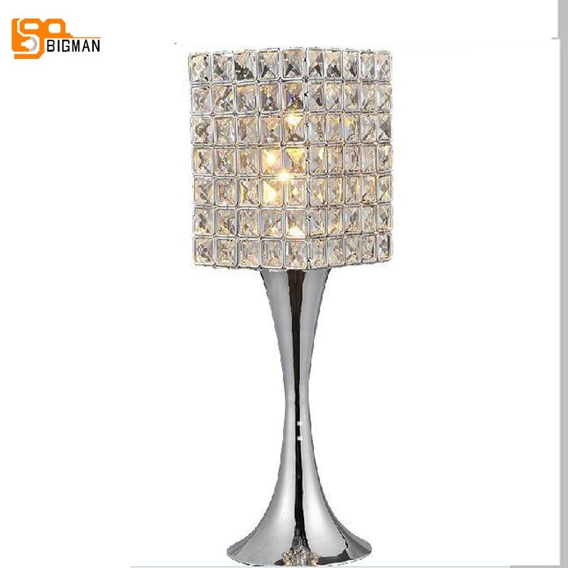 new item hot sales crystal table lamps beautiful bedroom lighting designs