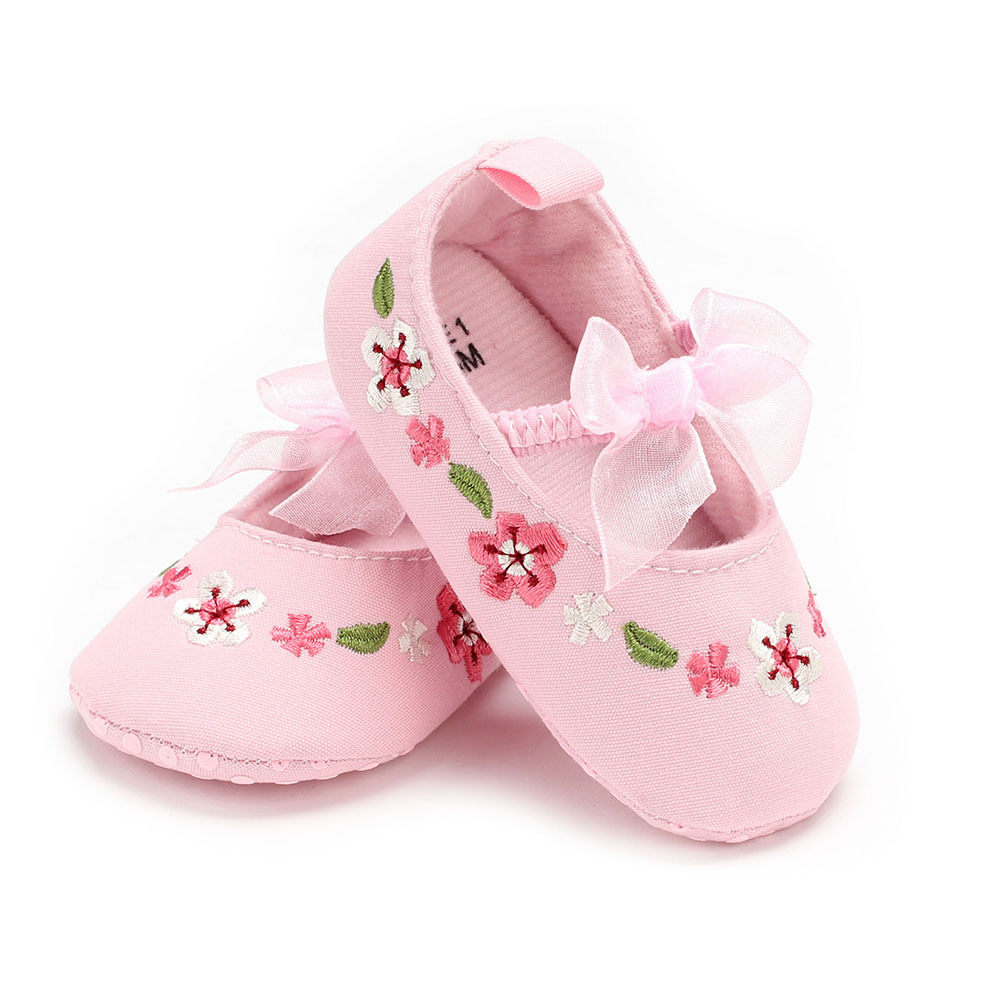 New baby non-slip toddler shoes soft bottom bow Chinese girls baby toddler shoes 0-12 months GXJ ...