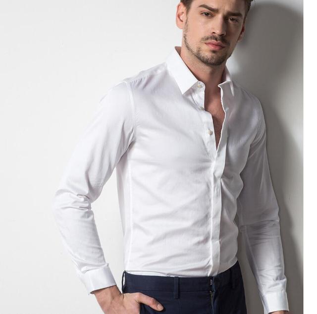 the latest bf4e5 03109 US $44.0 |Formelle anlässe männer hemd hohe qualität der bräutigam kleid  hemd klassischen stil revers PROM kleid hemd stil oben herstellung in ...