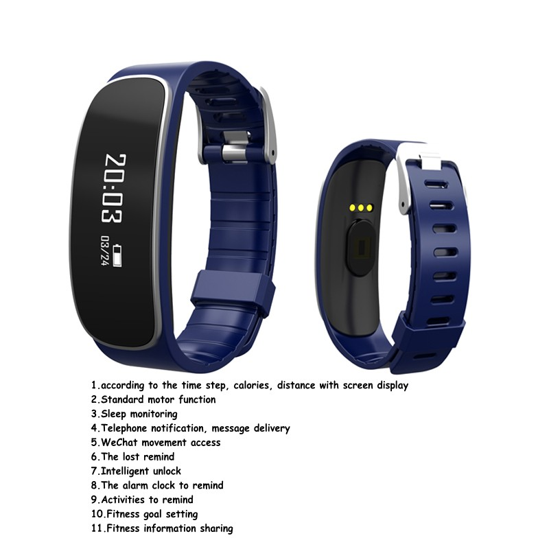H29 Wristband Bluetooth 4 0 activity tracker Passometer with Heart Rate for IOS Android font b