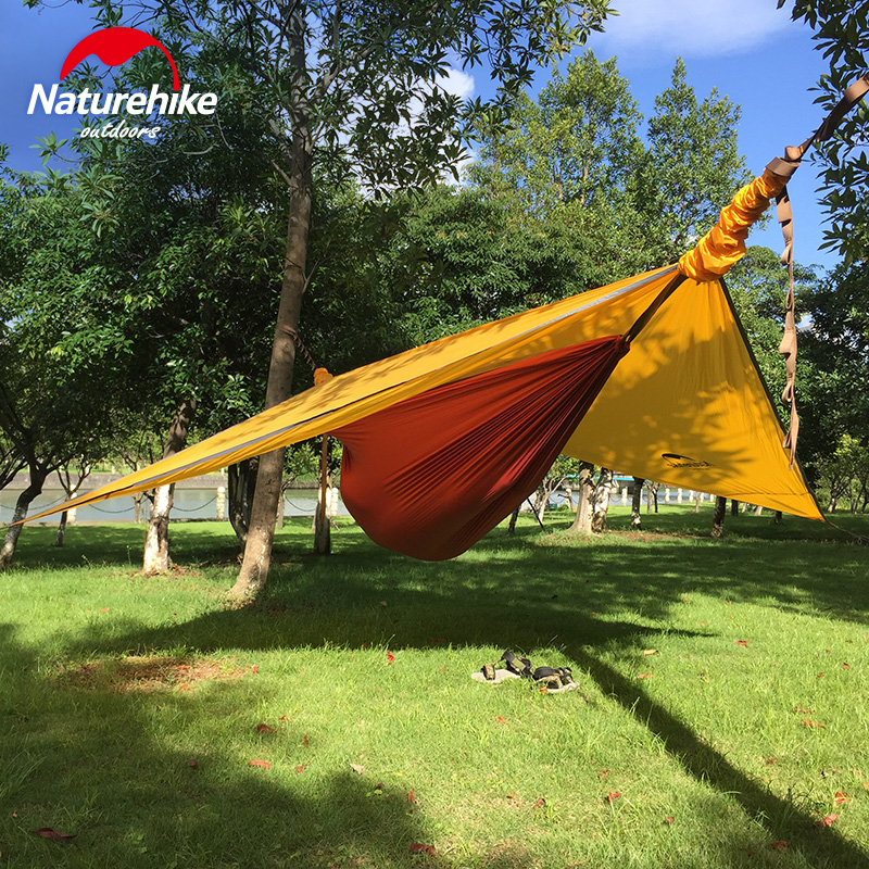 Naturehike Hammock Portable Camping Hammock With Mosquito Nets Single Person Hammock Swing Grey Orange lightweight hammock hammock single 2 person
