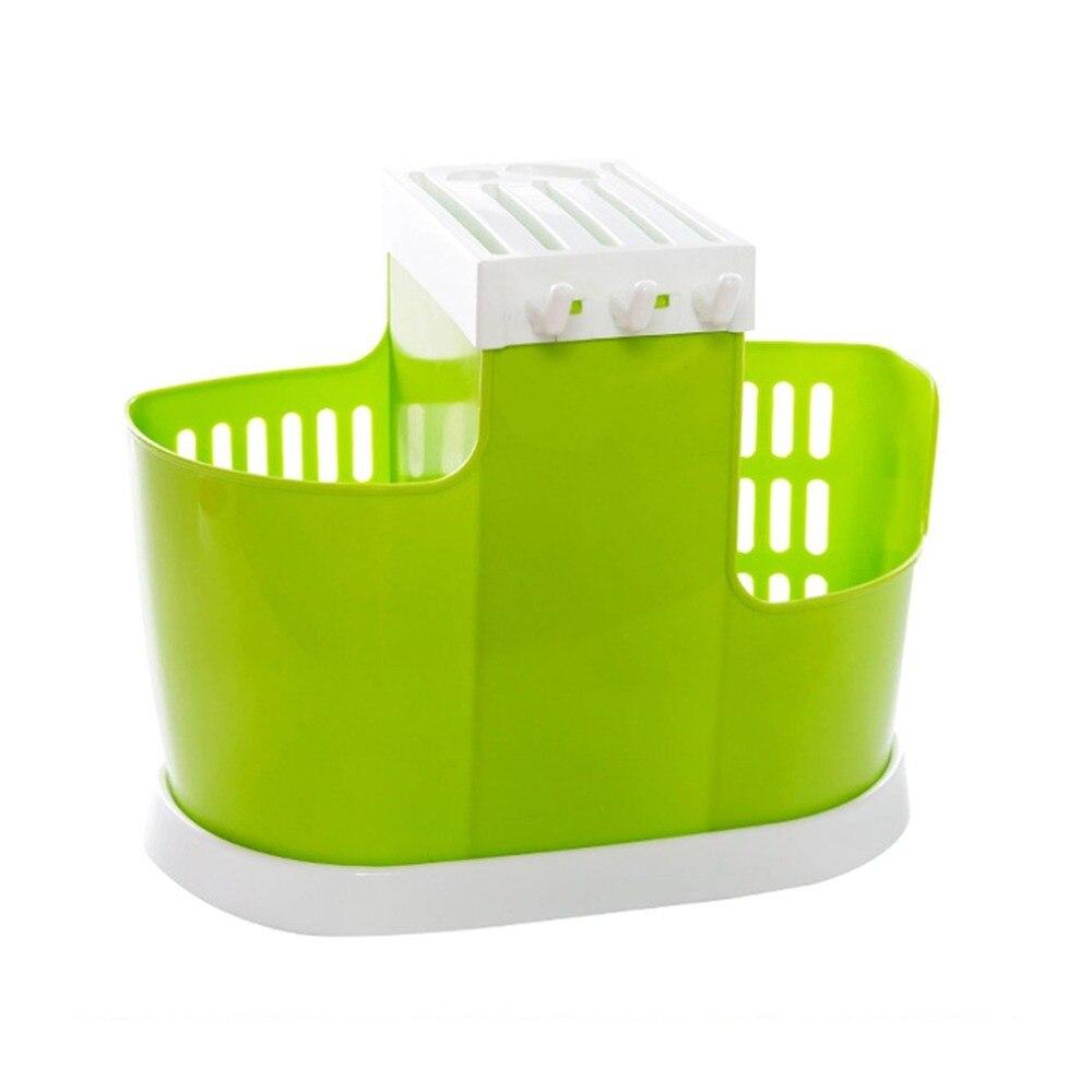 Kitchen Draining Water Chopsticks Cage Spoon Storage Rack Cutlery Organizer Drainer Multifunctional Storage Box Plastic Holder