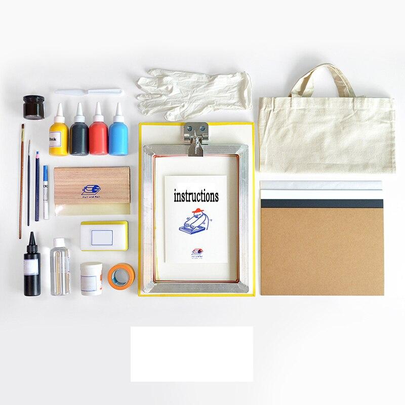 DIY Scrapbooking Home Mini Portable Rolling Screen Printing Screen Printing Tool Kit Creative T-shirts Printing Thermal Transfer