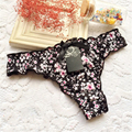 11 colors cotton printed thong soft and comfortable sexy women underwear