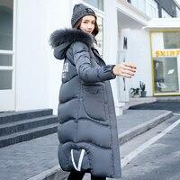 Hetobeto зимнее пальто Для женщин X длинные плюс Размеры M XXXL длинная парка Роскошные Мех животных на Хлопчатобумажной Подкладке теплое толстое
