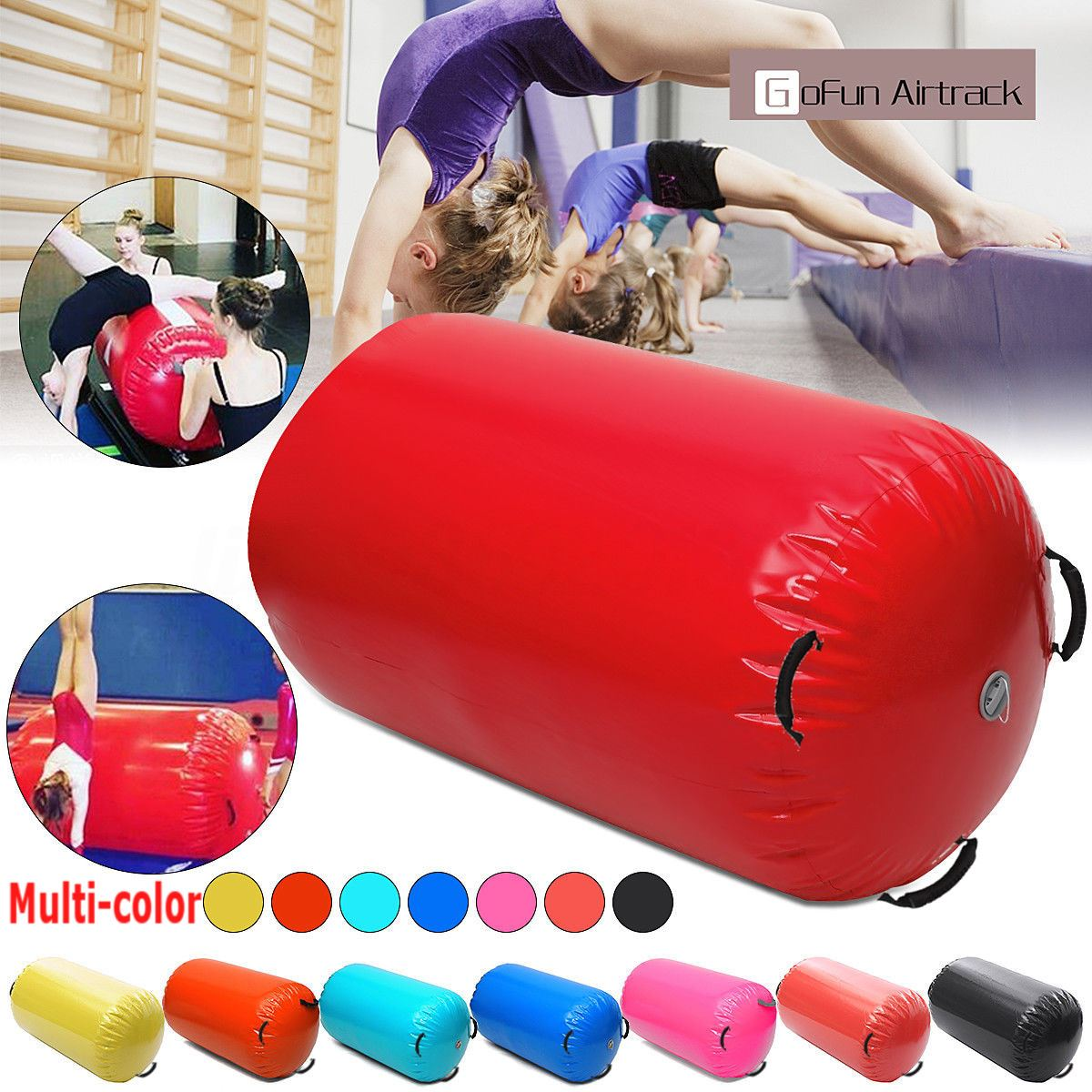 120x60 CM Fitness gonflable Air rouleau maison grand Yoga gymnastique cylindre GYM tapis faisceau chaud