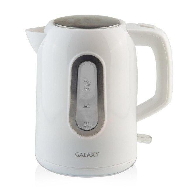 Чайник электрический Galaxy GL 0212 (Мощность 2200 Вт, объем 1.7 л, пластиковый корпус, подсветка, вращение 360°)