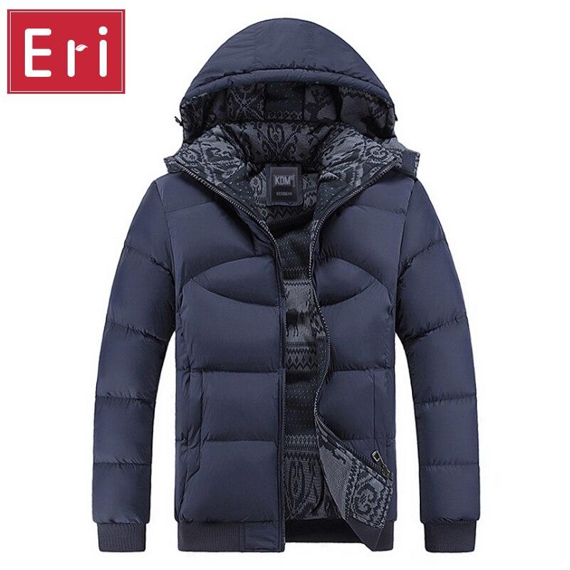 ФОТО Men Hoody Winter Coats Male Hooded Plus Size XXXL 4XL Jackets Teenager Slim Fit Windbreaker Parka Cotton-Padded Black/Navy X358