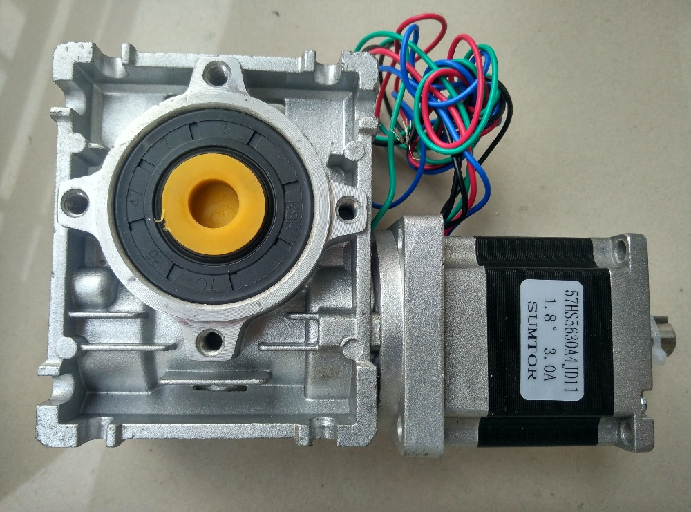 57mm Worm Gearbox Geared Stepper Motor Ratio 20:1 NEMA23 L 56MM 3A 57mm planetary gearbox geared stepper motor ratio 30 1 nema23 l 56mm 3a