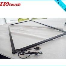 ZZDtouch 50 дюймов ИК сенсорная рамка 10 20 точек usb инфракрасный сенсорный экран Мульти Сенсорная панель Сенсорный экран Накладка для монитора ПК ТВ