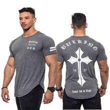 2018 Summer New Arrival Bodybuilding Fitness Mens Short Sleeve T shirt GymS Shirt Men Muscle Tights