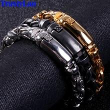Pulseras de la amistad para hombre 2019 de acero inoxidable de Color dorado, pulsera de cadena de 8MM, brazalete de la amistad para hombres, joyería clásica de motorista nuevo