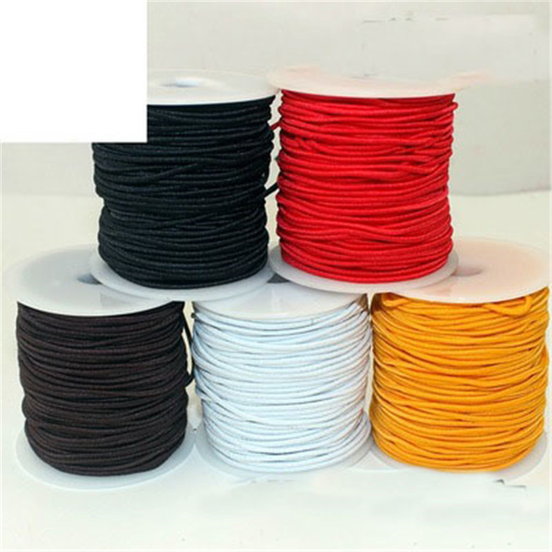20m/lot Dia 1mm 1.5m <font><b>Elastic</b></font> Beading <font><b>Cord</b></font> For Bracelet Nylon Strong And Stretchy <font><b>Elastic</b></font> Rope String DIY Craft Jewelry Making image