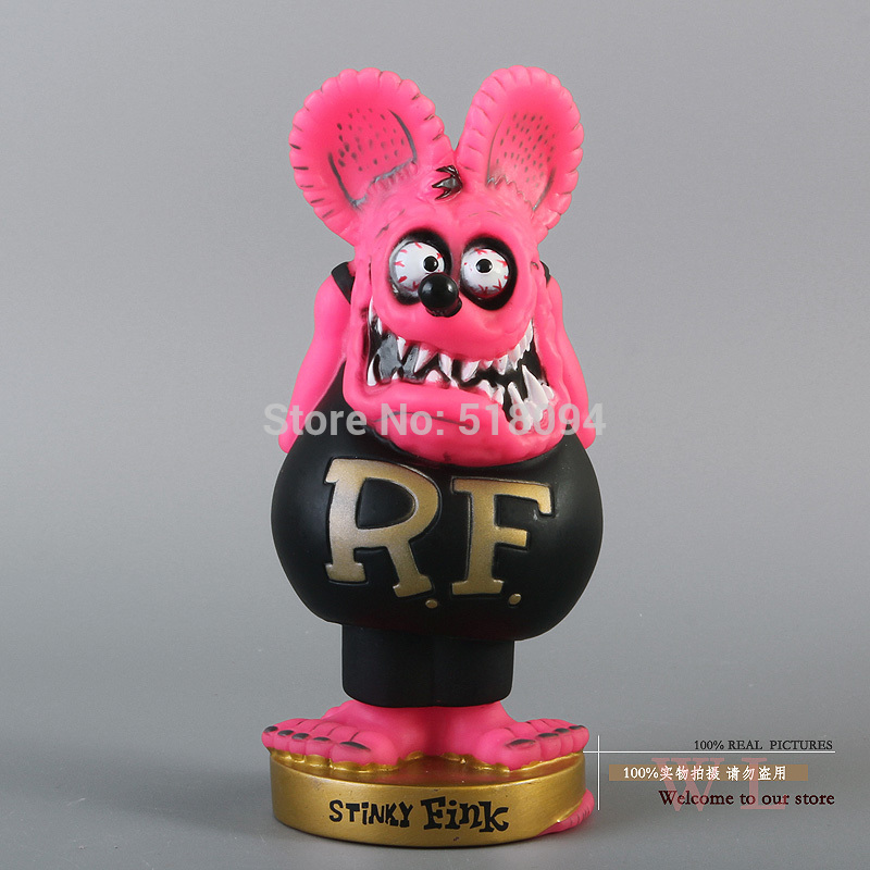 Free Shipping FUNKO Bobble Head Rat Fink Wacky Wobbler PVC Action Figure Collection Toy Doll Christmas Gifts FKFG067 vesonal winter fur male shoes for men loafers adult business casual brand high quality genuine leather footwear man walking