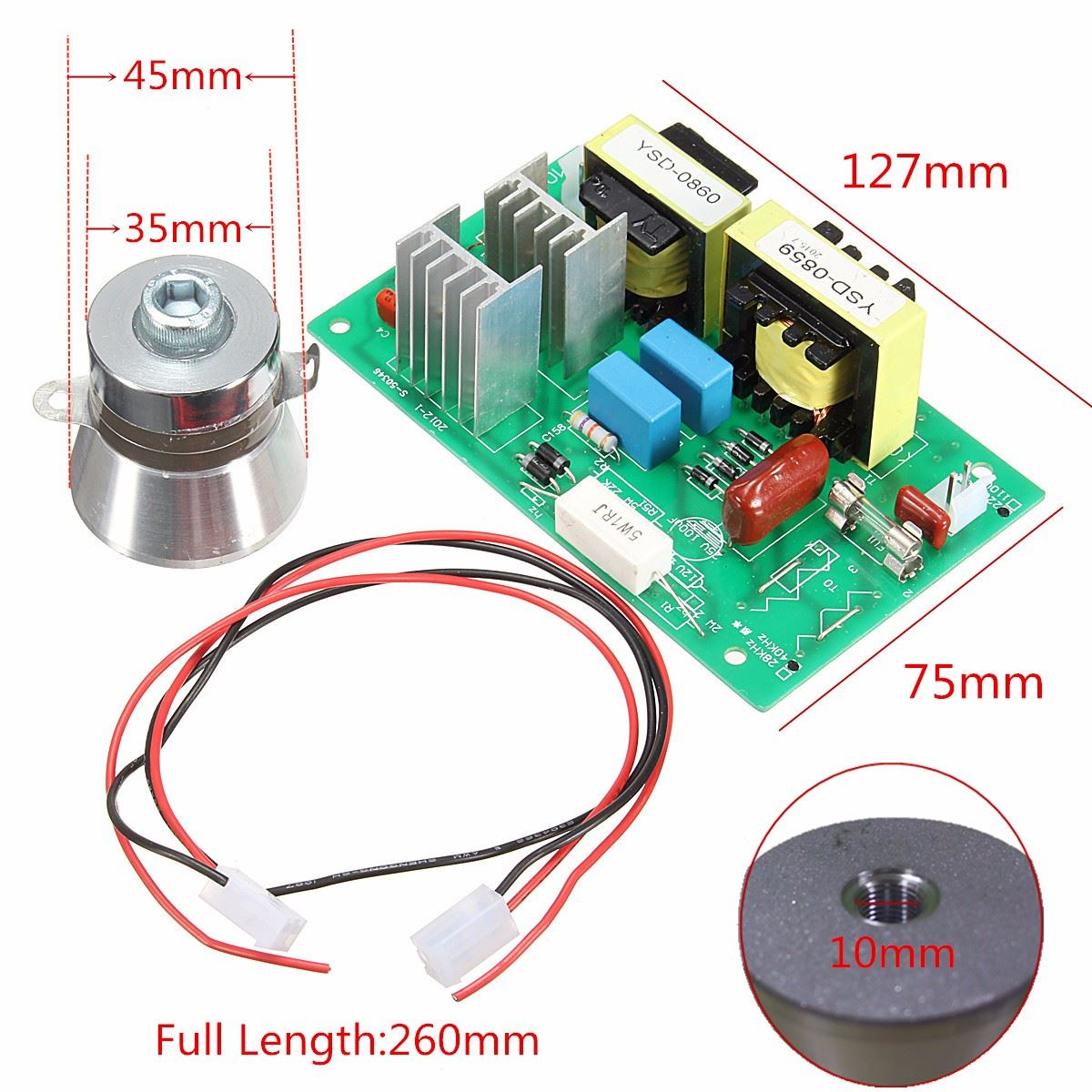 Sizzling New Arrival Ac 220v 100w 40khz Ultrasonic Cleansing Energy Generator Schematic Technical Term Know Driver Board 50w 40okay Transducer