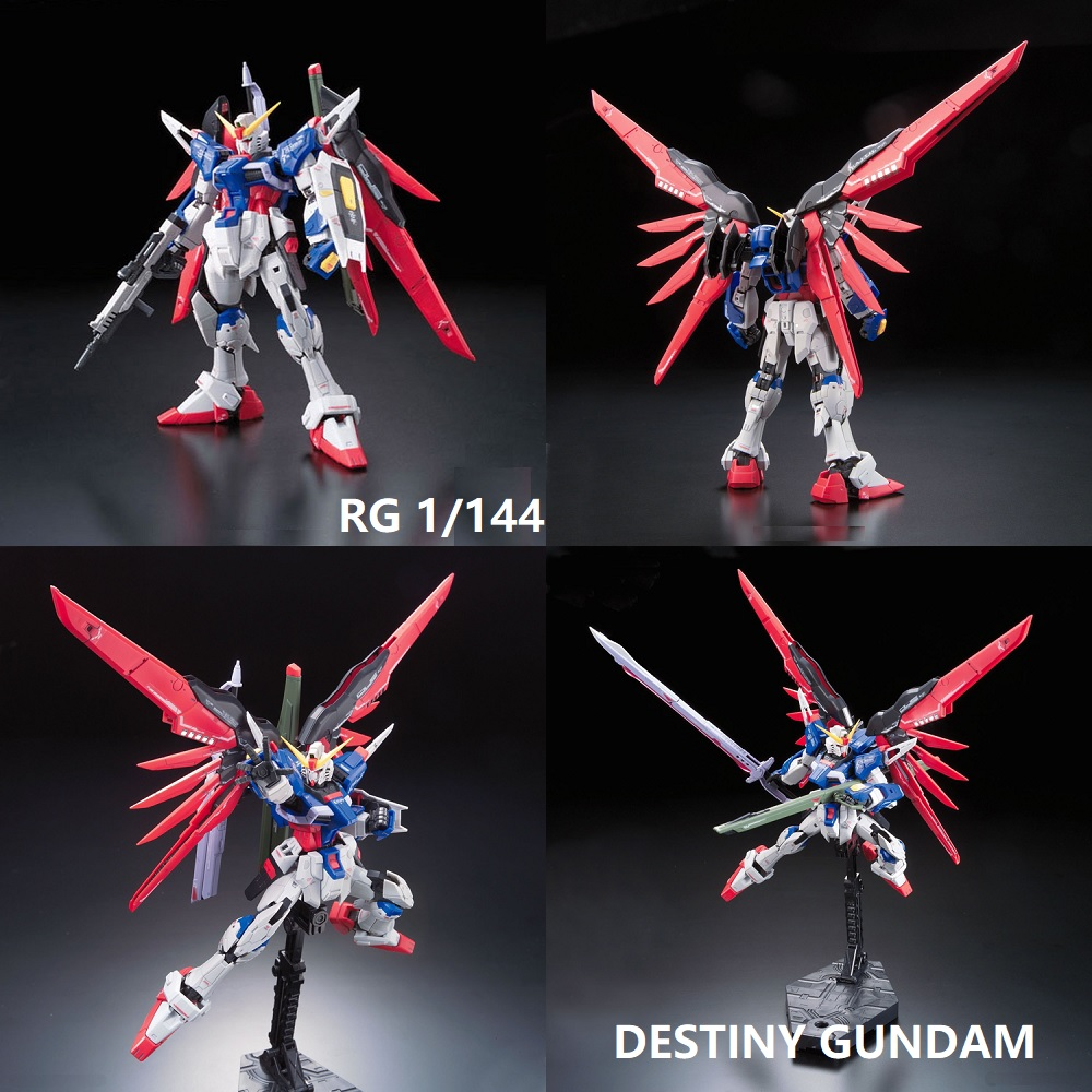Original Gundam RG 1/144 Model DESTINY GUNDAM Mobile Suit Kids Toys With Holder