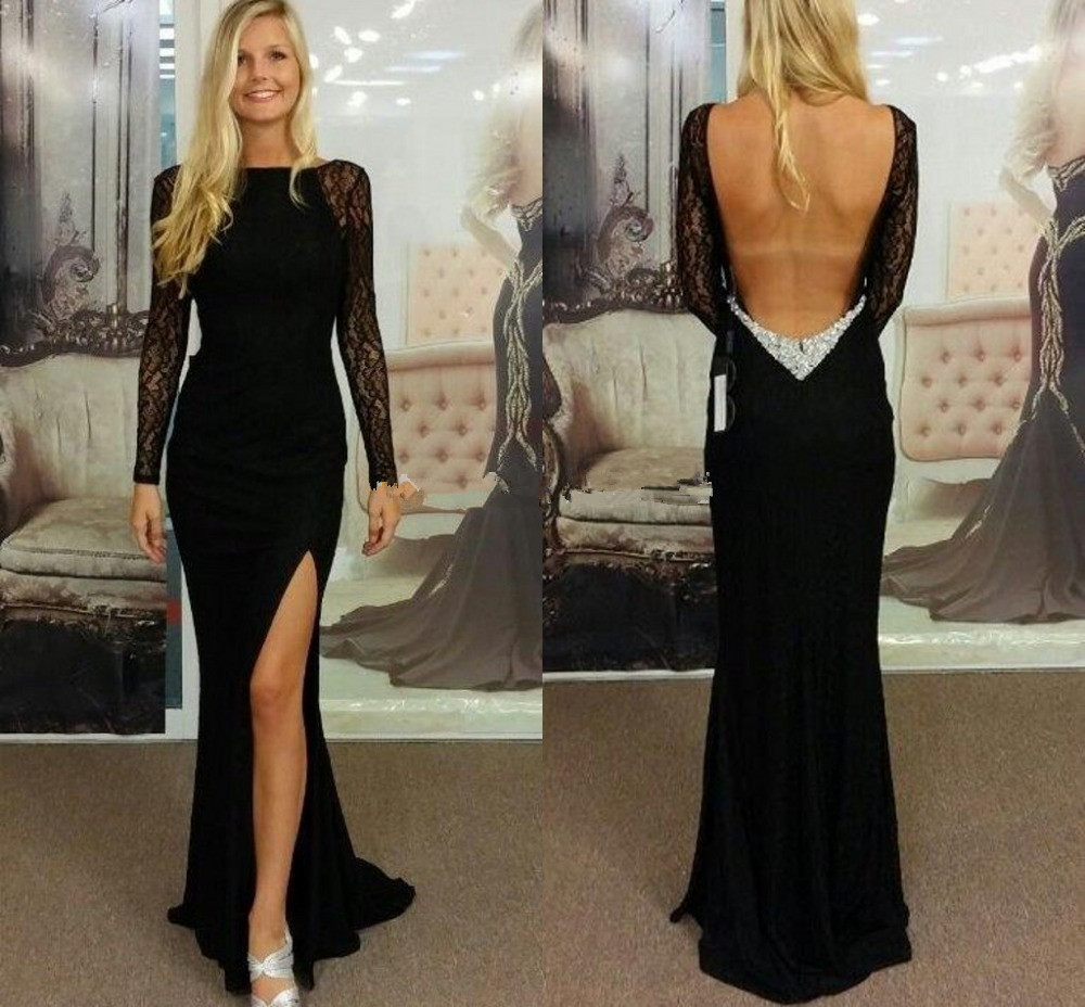 Colorful Black Lace Backless Gown Inspiration - Ball Gown Wedding ...