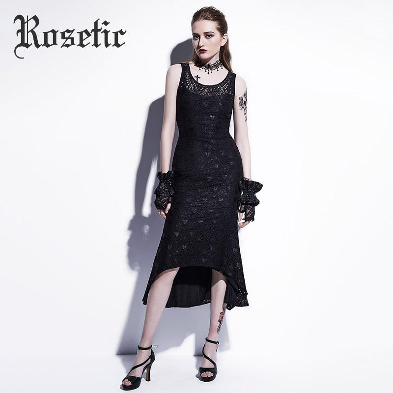 Rosetic Women Bodycon Sexy Lace Fishtail Sleeveless Tank Long Dresses