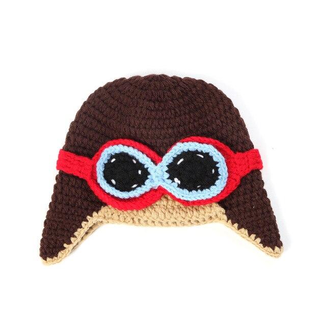 Niños Tejer Sombrero Sombrero Sombrero de Aviador Piloto Astronauta ...