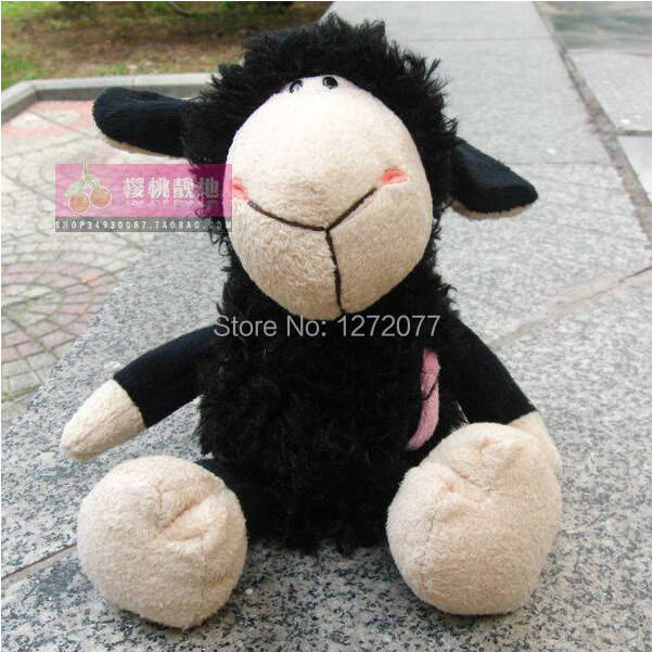 Online Shop 25cm Nici Black Sheep Stuffed Plush Toy Baby Kids Doll