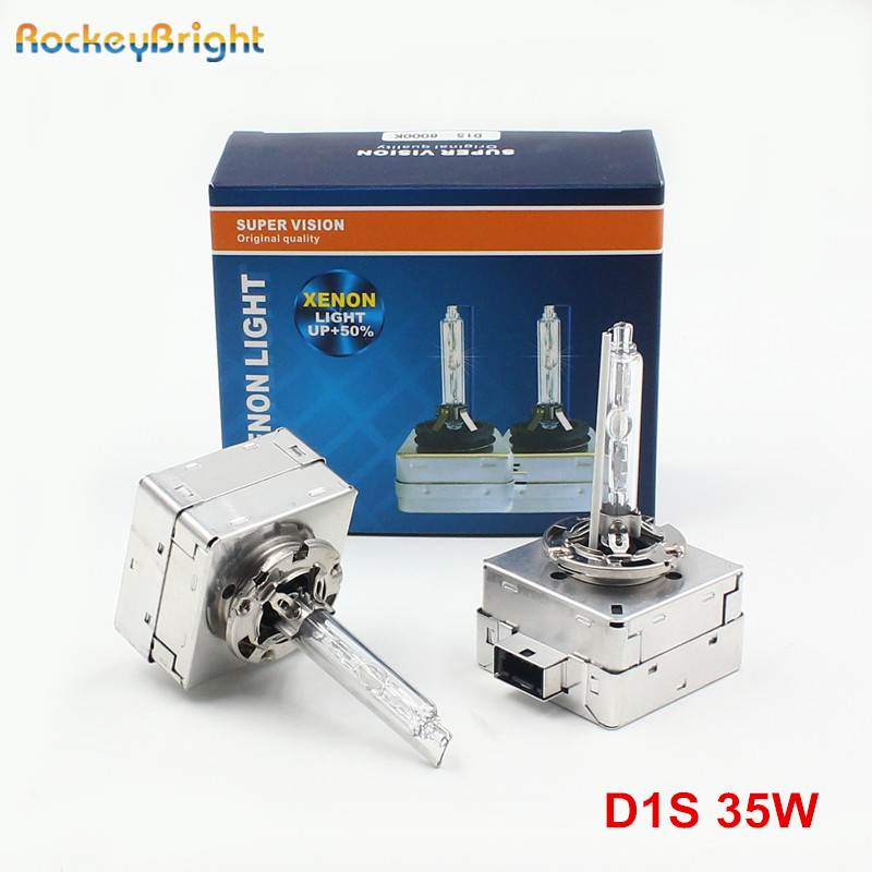 Rockeybright 12V 35W 4300K HID D1S Xenon Bulb for Audi Q7 Q5 A6L A3 A4 Headlight Xenon D1S D1C 6000K 8000K car D1S xenon lamp 2x no errors xenon white 50w p13w c ree led bulbs drl for 2008 12 audi b8 model a4 or s4 with halogen headlight trims