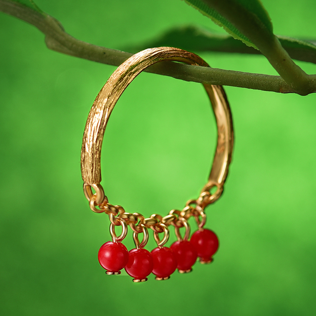Designer Natural Handmade Fruits Rings Fine Jewelry8