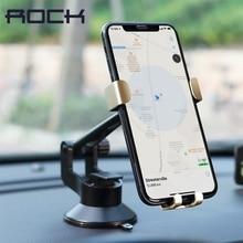 ROCK Universal Metal Gravity Auto Lock Car Holder 360 Degree Rotation Adjustable Sucker Phone Mount Bracket