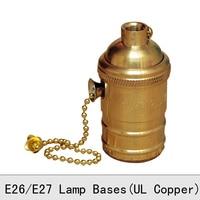 Vintage Edison Bulb đèn giữ đồng Retro Antique vàng kéo dây kéo đèn chuyển đổi ổ cắm E26E27 UL tốt Pendant Căn cứ đèn 2 Pcs