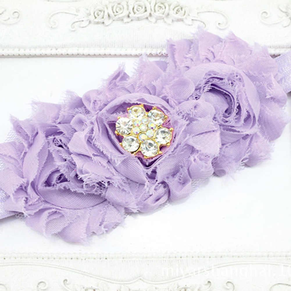 Фиолетовая детская обувь и повязка на голову; обувь для новорожденных принцесс; элегантная обувь для девочек от 0 до 18 месяцев
