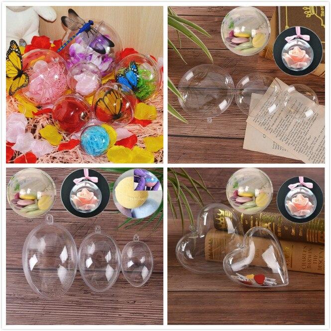 20 x 8 cm plastique transparent boules Craft Baubles-Noël Baubles