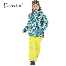 Pant Snowboard-Sets Ski-Suits Skiing Jacket Waterproof Kids Winter Boy Outdoor Detector