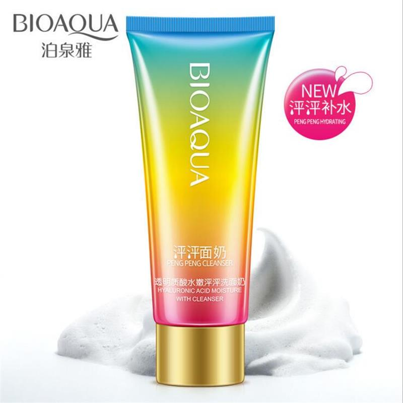BIOAQUA Hyaluronic Acid Moisture Pore Cleanser Deep Cleaning Whitening Moisturizer Facial Cleaner Skin Care Face Washing