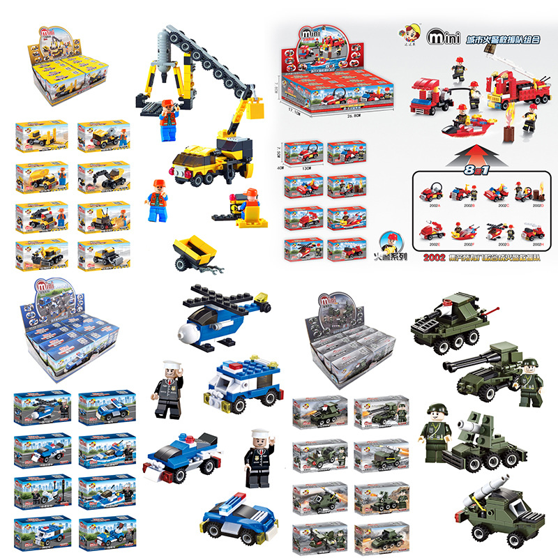 Children 39 s Building Block Compatible Toys City Police Military Fire Engineering Puzzle Assembly Toys 8 Boxes 6 Years Old in Stacking Blocks from Toys amp Hobbies
