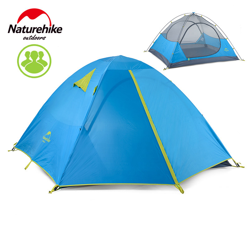 NatureHike Outdoor Tents 3-4 Person Automatic Camping Tent Camping Equipment Sun Shelter Pop Up Travel Beach Tent outdoor double layer 10 14 persons camping holiday arbor tent sun canopy canopy tent