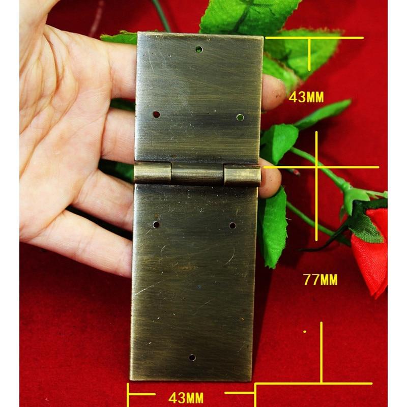 Brass Hinge Decor Door Hinges Wooden Box Hinge Fittings for Furniture Hardware+Srcews,43*120mm,1PC 8101 250 moen furniture hinges nrh hardware 492mm long hinge