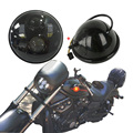 """Для Harley 5.75 """"дюймовый фары жилья ведро С 5 3/4"""" свет daymaker Привет/Lo Пучка для Harley Davidson Fat Bob FXDF"""