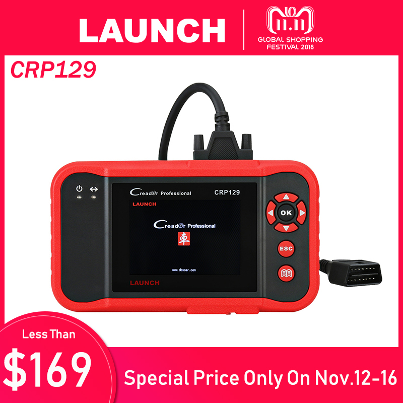 цена на Launch X431 Creader CRP129 OBD2 Car Scanner OBDII Diagnostic Tool Auto Code Reader Engine ABS SRS Brake Oil Reset Diagnostics