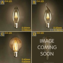 Lámpara LED Edison de 4 Uds., 4W, E14, 220V, Bombilla Vintage, ampollas decorativas, Bombilla con filamento de carbón