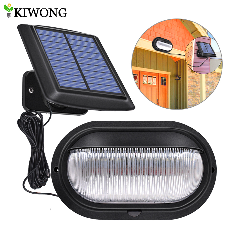 Solar Light PIR Motion Sensor Outdoor Garden Waterproof 10 LED Bright Wall Lamp Separable With Line